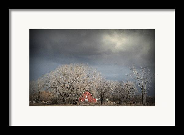 Barns Framed Print featuring the photograph Country Storms.. by Al Swasey
