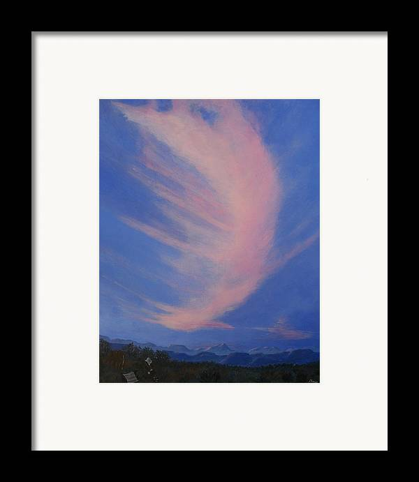 Western Framed Print featuring the painting Cowboy Wakeup Call by Janis Mock-Jones