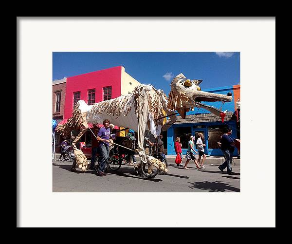 Monsoon Puppets Framed Print featuring the photograph Coyote On Parade by Feva Fotos