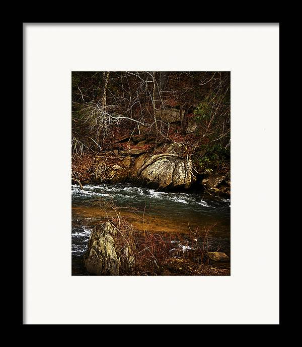 Black And White Framed Print featuring the photograph Creek by Mario Celzner