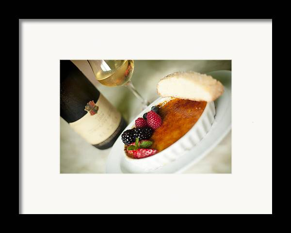 Food Framed Print featuring the photograph Creme Brulee by Shanna Gillette