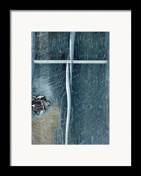 Cross2bear;inspirational Framed Print featuring the photograph Cross2bear by Tom Druin