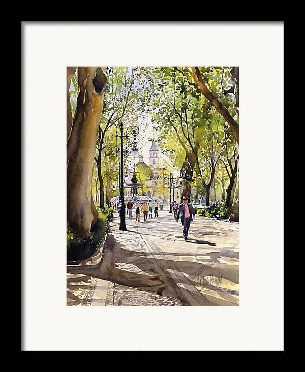 Cuesta Genil Framed Print featuring the painting Cuesta Genil by Margaret Merry