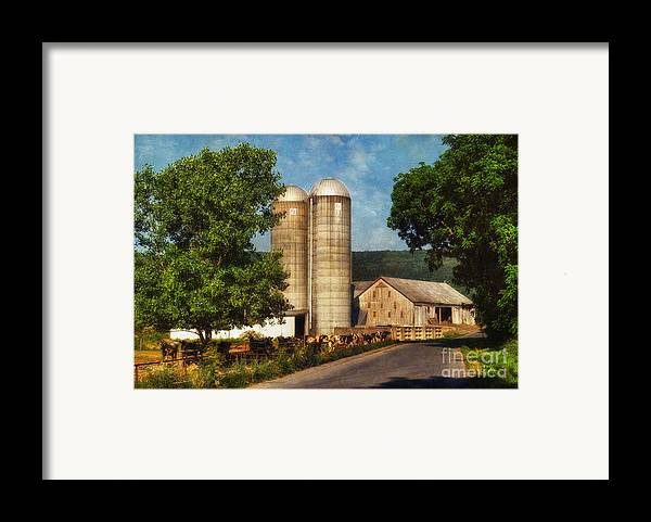 Dairy Framed Print featuring the photograph Dairy Farming by Lois Bryan