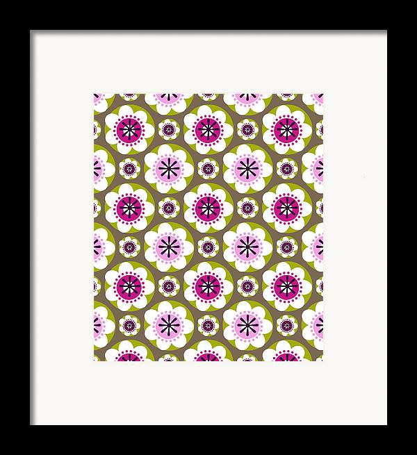 Posters Framed Print featuring the digital art Daisy's Flower Garden by Lisa Noneman