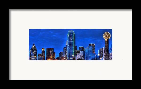 Dallas Framed Print featuring the photograph Dallas Skyline Hd by Jonathan Davison