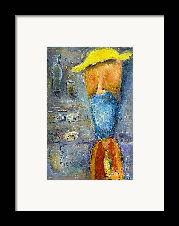 Bottle Framed Print featuring the painting Darryll - 2012 by Nalidsa Sukprasert