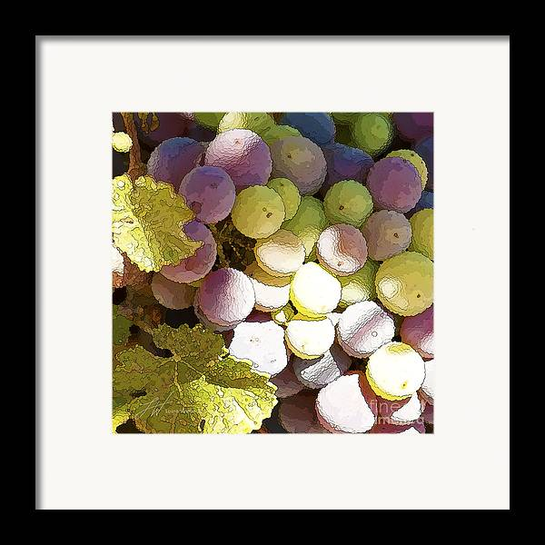 Grapes Framed Print featuring the painting Della Vite by Artist and Photographer Laura Wrede