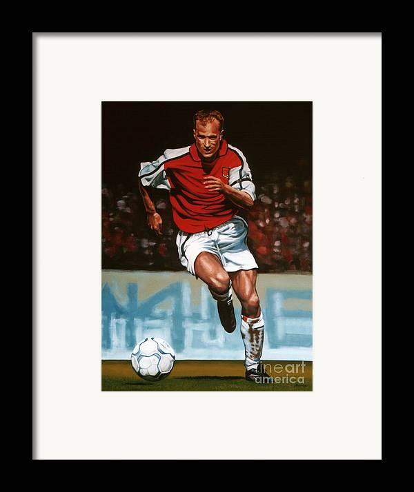 Dennis Bergkamp Framed Print featuring the painting Dennis Bergkamp by Paul Meijering