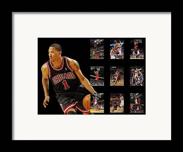 Derrick Rose Framed Print featuring the photograph Derrick Rose by Joe Hamilton