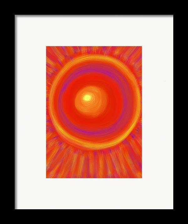 Sun Framed Print featuring the painting Desert Sunburst by Daina White