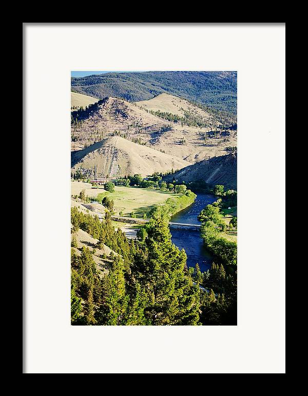 Landscape Framed Print featuring the photograph Divide Bridge by Kevin Bone