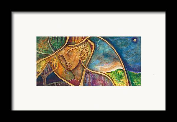 Divine Wisdom Framed Print featuring the painting Divine Wisdom by Shiloh Sophia McCloud