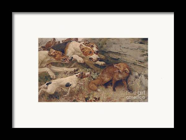 Strutt Framed Print featuring the painting Do Your Worst by Alfred William Strutt