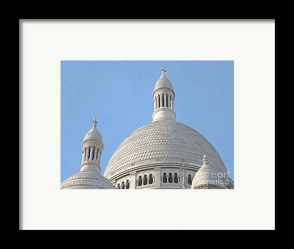 Paris Framed Print featuring the photograph Dome Of Sacre-coeur by Ann Horn