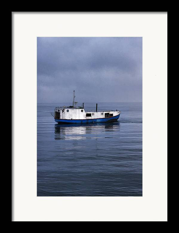 Door County Framed Print featuring the painting Door County Gills Rock Trawler by Christopher Arndt