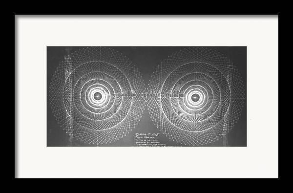Doppler Framed Print featuring the drawing Doppler Effect Parallel Universes by Jason Padgett