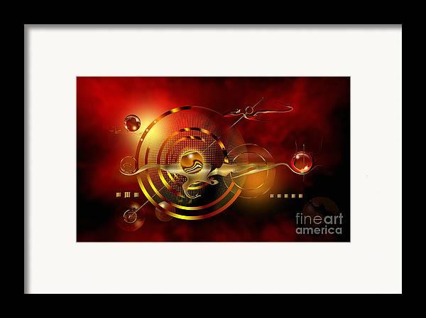 Highly Imaginative Framed Print featuring the digital art Dore Dans Le Universe by Franziskus Pfleghart