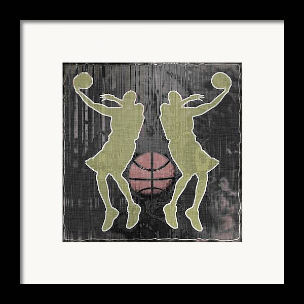 Basketball Framed Print featuring the digital art Double Hook by David G Paul