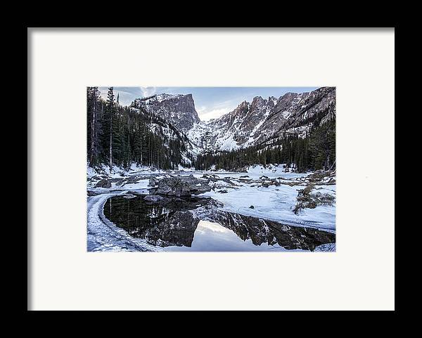 Colorado Framed Print featuring the photograph Dream Lake Reflection by Aaron Spong