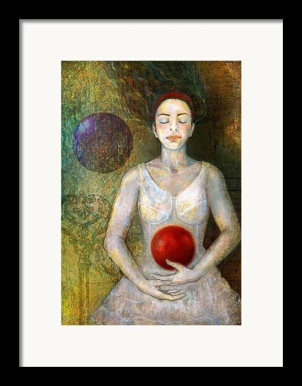 Girl Framed Print featuring the painting Dreaming by Katherine DuBose Fuerst