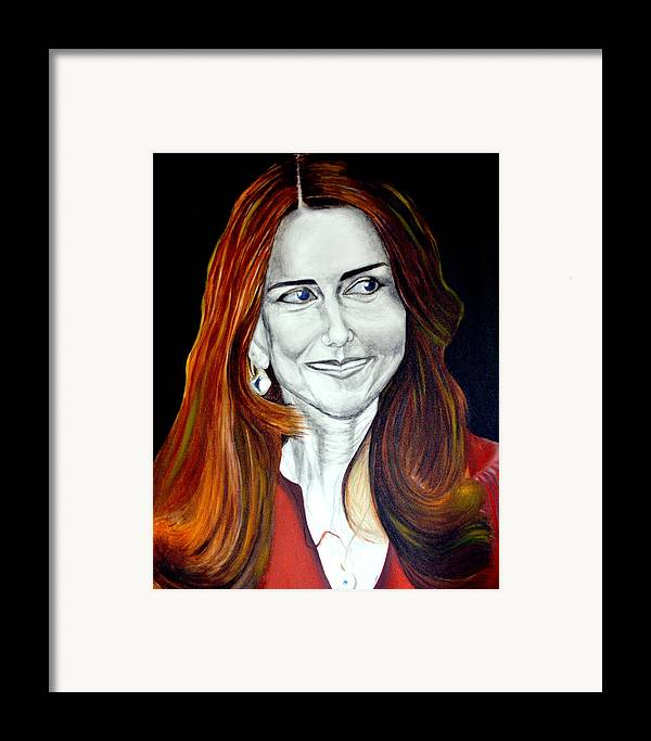 Duchess Framed Print featuring the painting Duchess Of Cambridge by Prasenjit Dhar