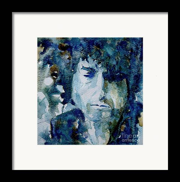 Icon Framed Print featuring the painting Dylan by Paul Lovering