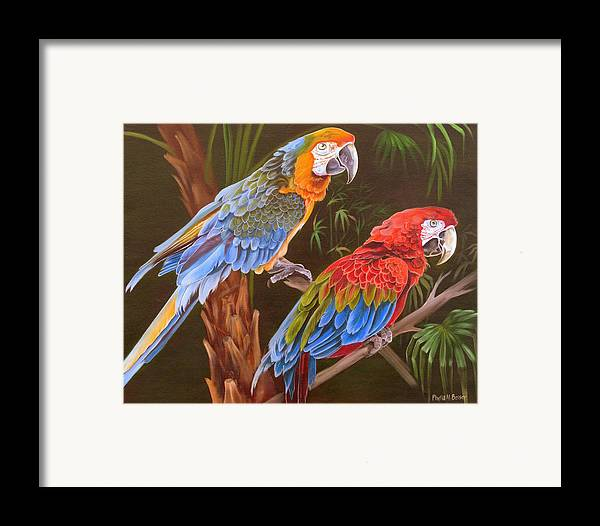 Birds Framed Print featuring the painting Dynamic Duo by Phyllis Beiser
