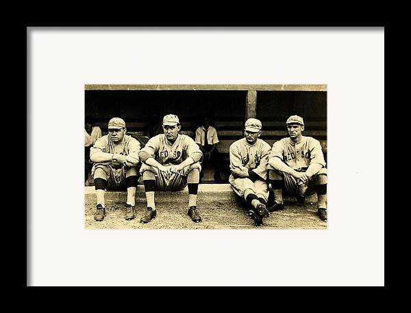 Babe Ruth Framed Print featuring the photograph Early Red Sox by Benjamin Yeager