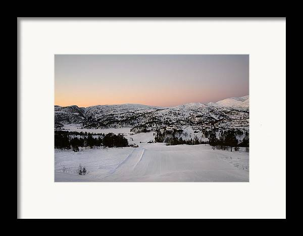 Sunset Framed Print featuring the photograph Early Winter Morning by Gry Thunes