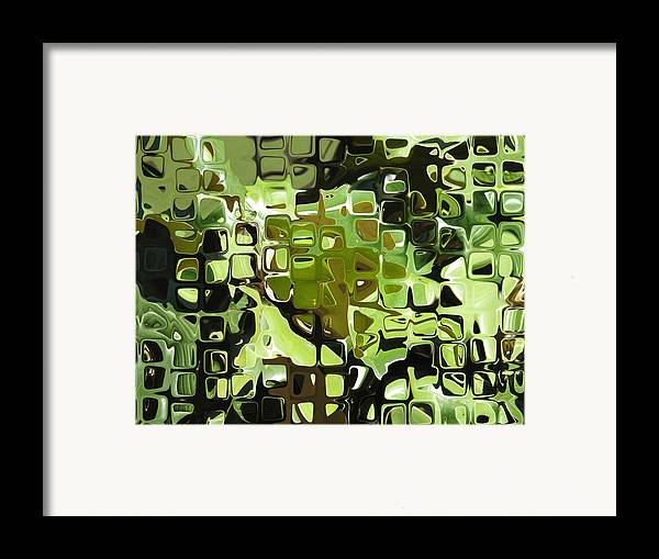 Abstract Framed Print featuring the digital art Earth Music by Wendy J St Christopher
