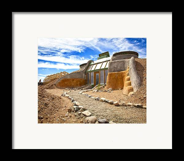Landscapes Framed Print featuring the photograph Earthship Taos by Shanna Gillette