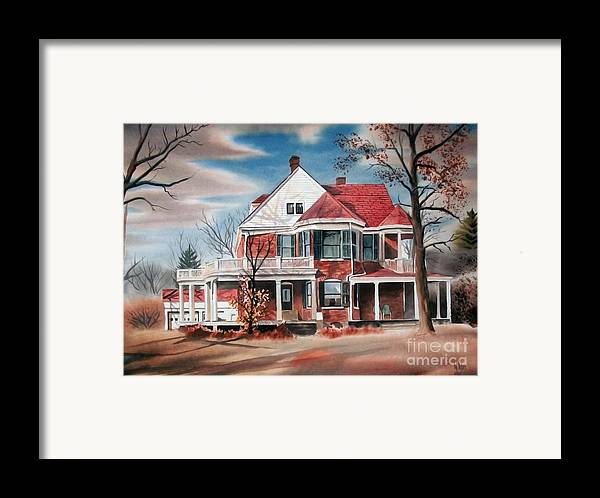 Edgar Home Framed Print featuring the painting Edgar Home by Kip DeVore