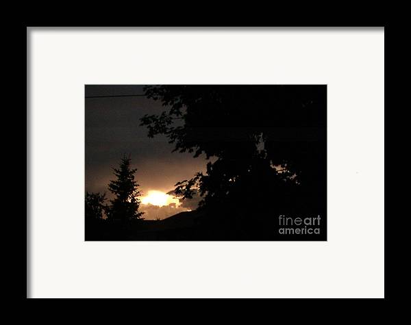 After The Storm Framed Print featuring the photograph Eerie Sky After The Storm by Gail Matthews
