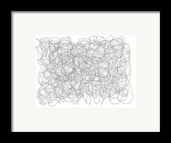 Digital Framed Print featuring the drawing Energy Vortex by Daina White