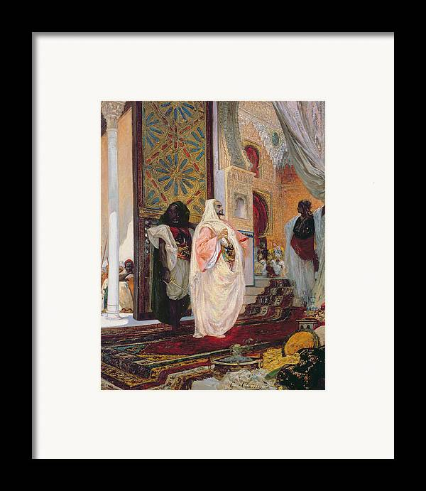 Entering The Harem Framed Print featuring the painting Entering The Harem by Georges Clairin