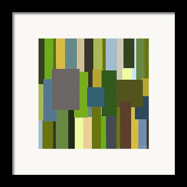 Green Framed Print featuring the painting Envious by Lourry Legarde