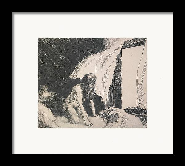 Edward Hopper Framed Print featuring the painting Evening Wind by Edward Hopper