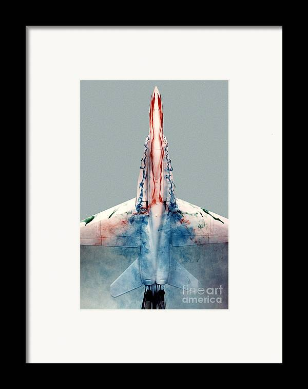 F-18 Framed Print featuring the photograph F18 Aerodynamics by Nasa Dfrc