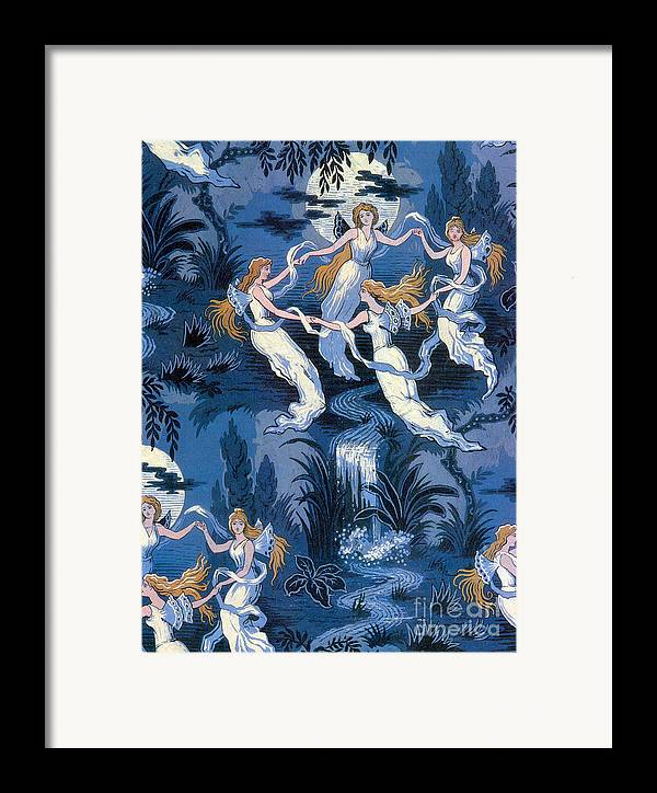 History Framed Print featuring the photograph Fairies In The Moonlight French Textile by Photo Researchers