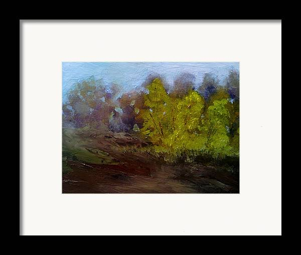 Landscape Framed Print featuring the painting Fall Color by Dwayne Gresham