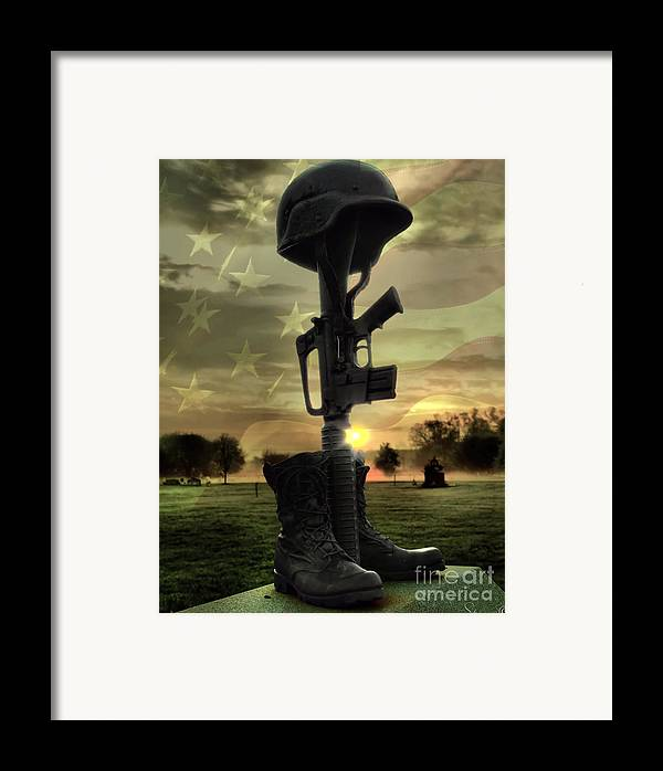 4th Framed Print featuring the photograph Fallen Soldiers Memorial by September Stone