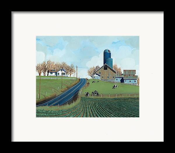 Dairy Framed Print featuring the painting Family Dairy by John Wyckoff