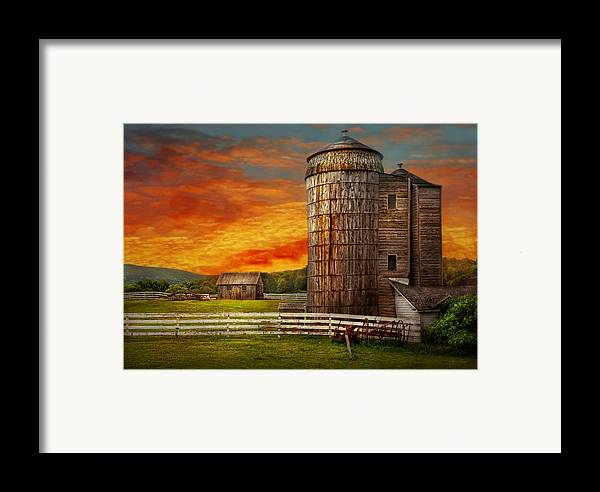 Farm Framed Print featuring the photograph Farm - Barn - Welcome To The Farm by Mike Savad