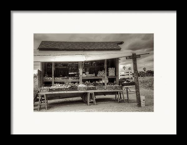 Farm Framed Print featuring the photograph Farmstand by William Wetmore