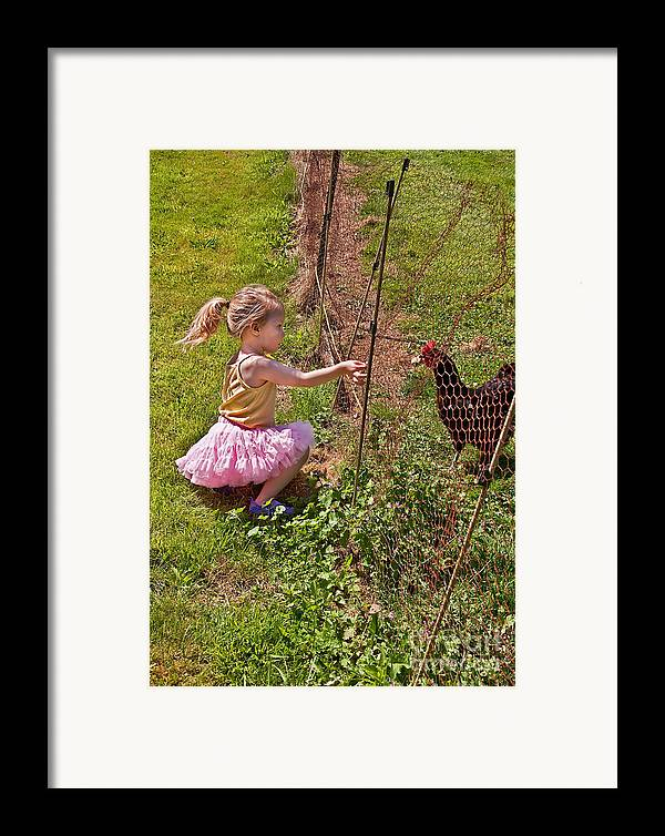 Child Framed Print featuring the photograph Feeding Time by Valerie Garner