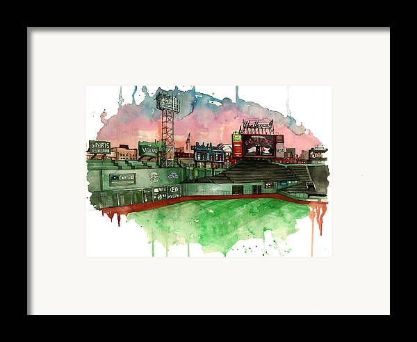 Fenway Park Framed Print featuring the painting Fenway Park by Michael Pattison