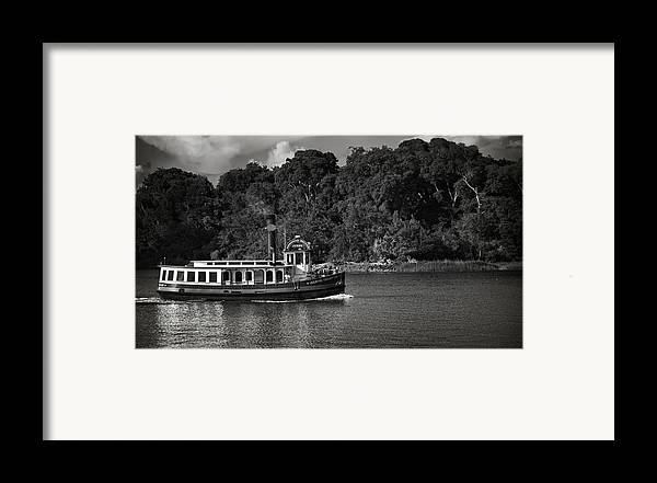 Black And White Framed Print featuring the photograph Ferry by Mario Celzner