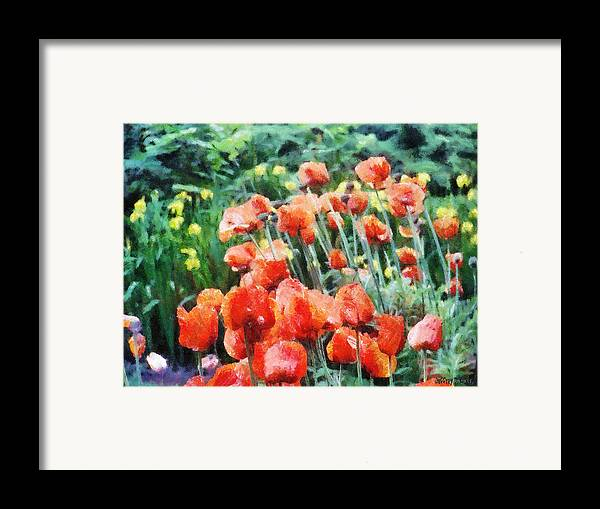 Canadian Framed Print featuring the painting Field Of Flowers by Jeff Kolker