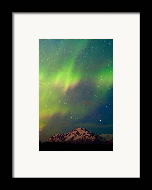 Aurora Framed Print featuring the photograph Filled With Aurora by Ron Day